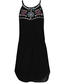 Černé volné šaty s barevnými výšivkami Rip Curl Fiesta