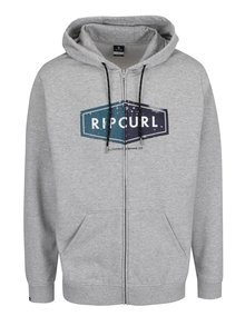 Hanorac gri Rip Curl Hooded Diamond cu glugă
