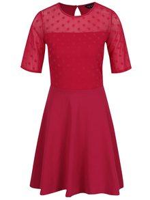 Tmavě růžové šaty s puntíky Dorothy Perkins