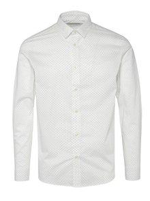 Biela vzorovaná košeľa Jack & Jones Blackpool