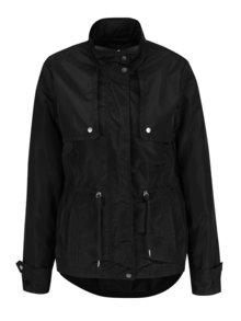Jachetă neagră VERO MODA Isaline cu detalii argintii