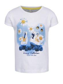 Biele dievčenské tričko s potlačou North Pole Kids