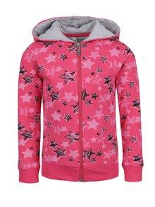 Hanorac roz cu stele North Pole Kids pentru fete