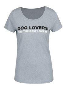 Tricou albastru deschis ZOOT Dog lovers are the best lovers