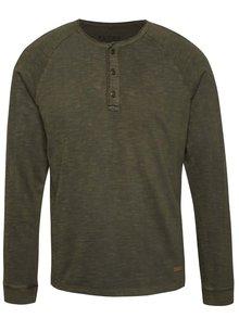 Khaki triko s dlouhým rukávem Blend