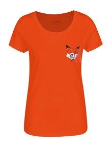 Tricou portocaliu de damă ZOOT Original Fox
