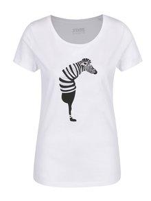 Tricou de damă alb  ZOOT Original Zebra