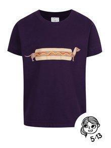 Fialové chlapčenské tričko ZOOT Kids Hot dog