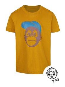 Žluté klučičí triko ZOOT Kids Opička