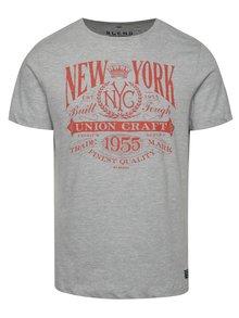 Sivé tričko s červenou potlačou Blend