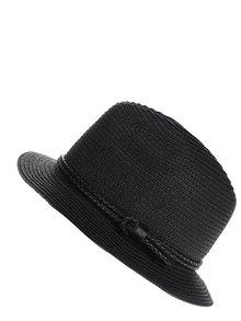 Pălărie neagră Pieces Lea cu șnur împletit