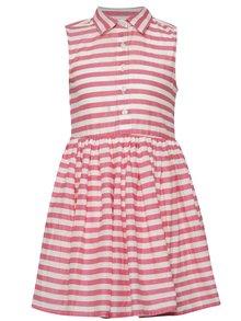 Krémovo-růžové holčičí pruhované šaty name it Gira