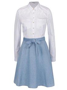 Bílo-modré šaty s džínovou sukní a páskem French Connection Hennessy