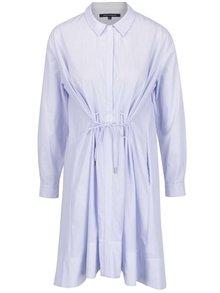 Svetlomodré košeľové šaty s pruhmi French Connection Smithson