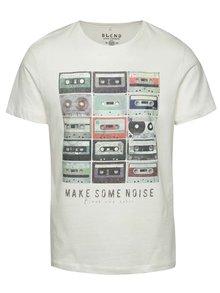 Krémové triko s potiskem kazet Blend