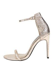 Sandálky v růžovozlaté barvě na jehlovém podpatku Miss Selfridge