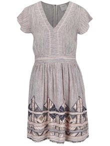 Světle růžové vzorované šaty VERO MODA Aneborder