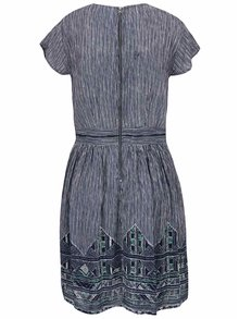 Tmavě modré vzorované šaty VERO MODA Aneborder
