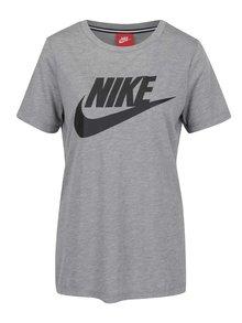 Šedé dámské tričko s potiskem Nike Sportswear Essdential