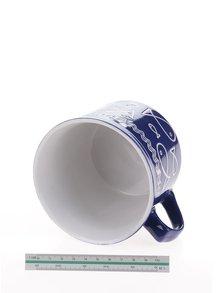 Cana albastra Dakls cu imprimeu pesti