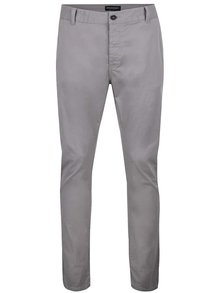 Pantaloni chino gri deschis Broadway Wayne