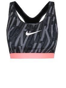 Bustier gri&negru Nike Pro Classic Skew