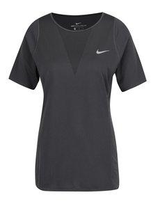 Tmavě šedé dámské funkční tričko Nike Zonal Cooling Relay