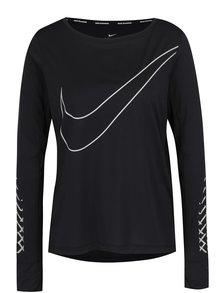 Bluză neagră Nike Breathe cu logo