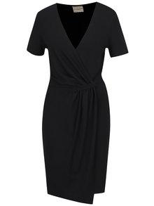 Rochie neagră Selected Femme Dinga cu croi asimetric