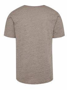 Béžové žíhané tričko ONLY & SONS Albert