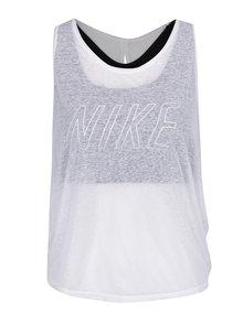 Biele dámske funkčné tielko 2v1 Nike Training
