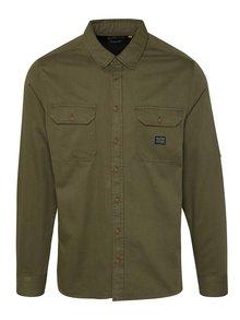 Khaki džínová košile s dlouhým rukávem Blend