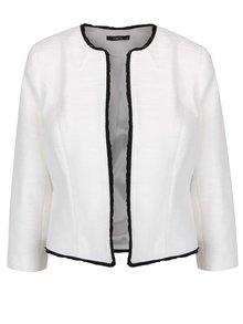 Blazer alb M&Co cu detaliu negru