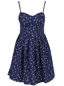 Tmavě modré puntíkované šaty s odnímatelnými ramínky Apricot