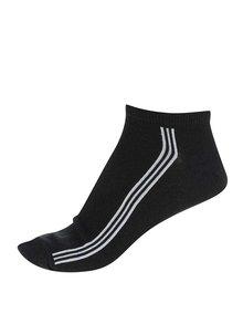 Černé pánské kotníkové ponožky s pruhy Bellinda In-Shoe