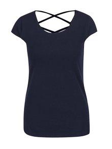 Tmavě modré tričko s detailem na zádech Haily´s Melanie