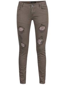 Zelené džíny s potrhaným efektem Haily's Lacey