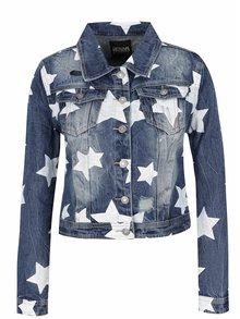 Modrá rifľová bunda s hviezdami Haily´s Alisa