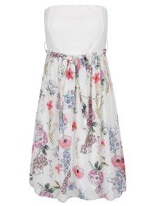 Rochie albă Haily's Florie cu model floral și cordon în talie