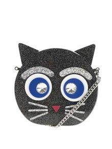 Černá crossbody kabelka/psaníčko s motivem kočky KARL LAGERFELD