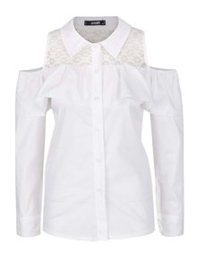 Krémová košile s průstřihy na ramenou Haily's Lilly