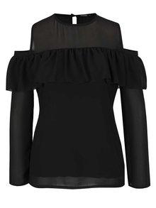 Bluză neagră cu decupaje pe umeri - Haily´ s Jana