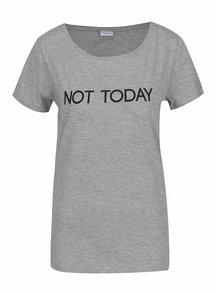 Sivé tričko s potlačou Jacqueline de Yong Chicago