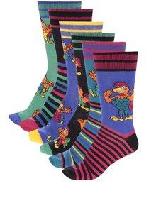 Sada šesti pánských ponožek s motivem kohouta Oddsocks Odd