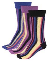 Súprava troch pánskych pruhovaných ponožiek Oddsocks Arthur