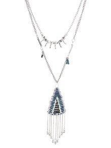 Dlhý náhrdelník s modrými korálikmi Pieces Lia