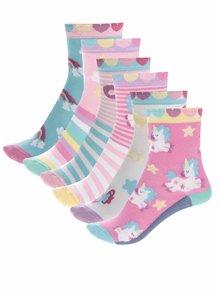 Súprava šiestich dievčenských ponožiek s motívom jednorožcov Oddsocks Fairy