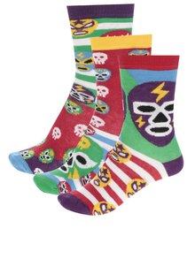 Sada tří klučičích ponožek s motivem lebek a masek Oddsocks Mask