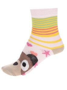 Súprava troch dievčenských ponožiek s motívom zvieratiek Oddsocks Faces