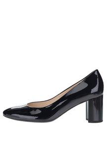 Pantofi bleumarin din piele lăcuită Högl cu toc masiv